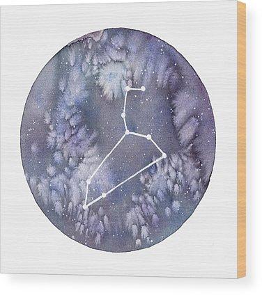 Zodiac Wood Prints