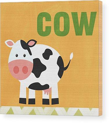 Farm Animal Wood Prints
