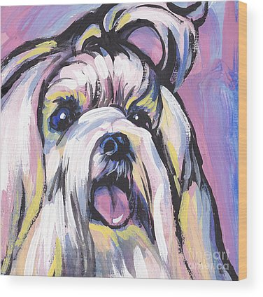 Maltese Puppy Wood Prints