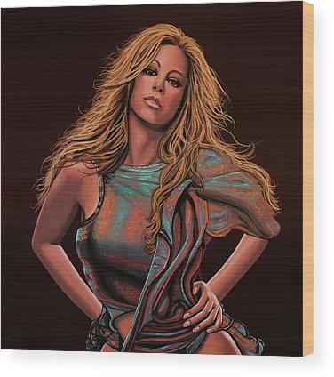 Mariah Carey Wood Prints
