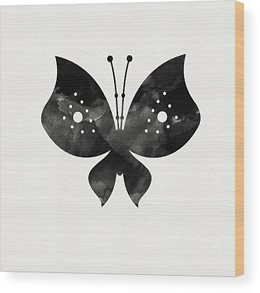 White Butterfly Wood Prints