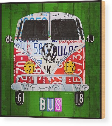 Vw Bus Wood Prints