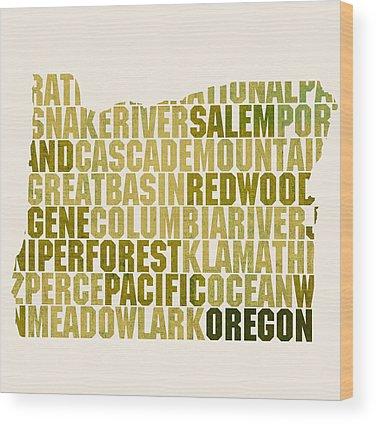 Oregon State Wood Prints