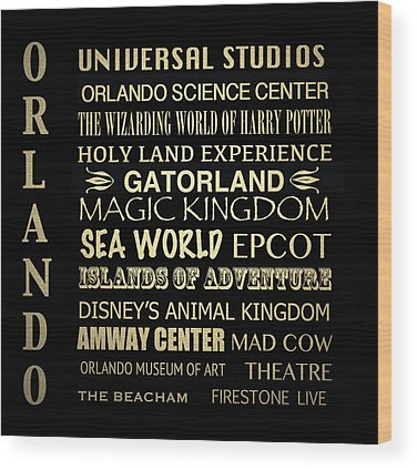 Epcot Center Wood Prints