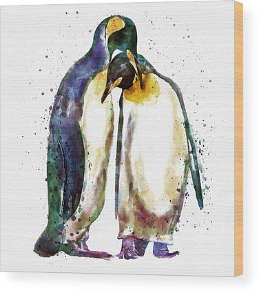 Penguin Wood Prints