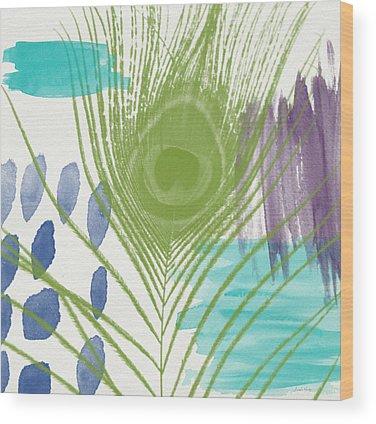 Peacocks Wood Prints