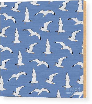 Seagull Wood Prints