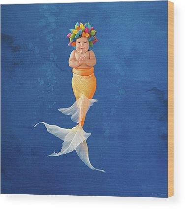 Mermaid Wood Prints