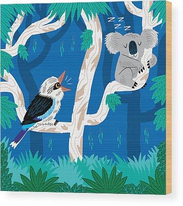 Koala Wood Prints