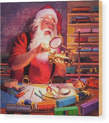 Santa Wood Prints