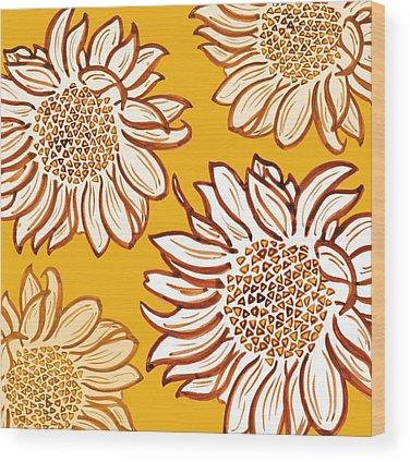 Floral Digital Art Wood Prints