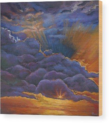 Desert Sunset Wood Prints