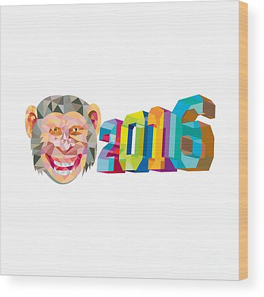 Year Of The Monkey Wood Prints