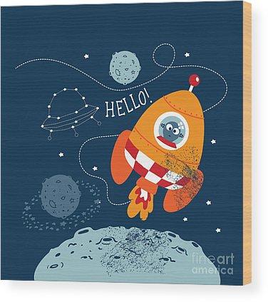 Solar System Wood Prints