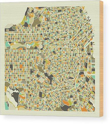 City Map Wood Prints