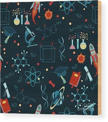 Chemistry Wood Prints