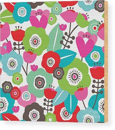 Poppies Digital Art Wood Prints