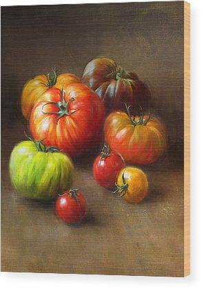 Vegetable Wood Prints