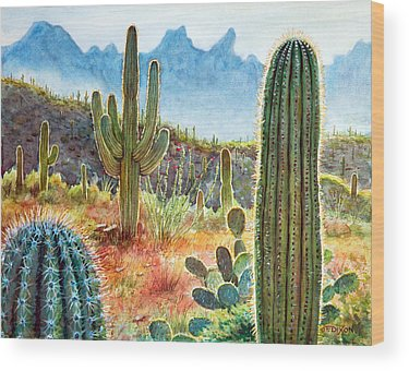 Cactus Wood Prints