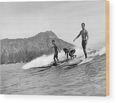 Surfing Wood Prints