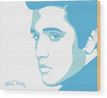 King Of Rock And Roll Music Wood Prints