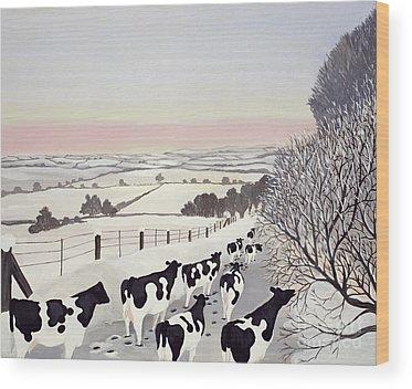 Winter Landscape Wood Prints