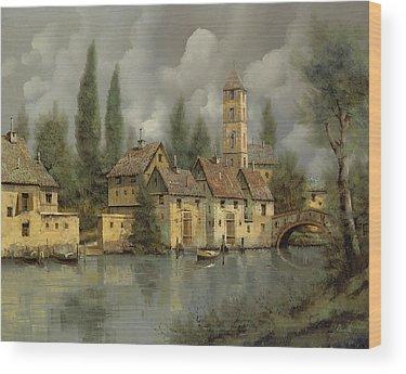 River Stones Wood Prints