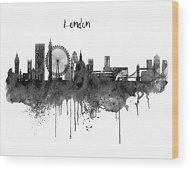 The City Of London Wood Prints
