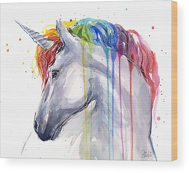 Unicorns Wood Prints