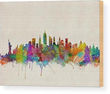 Skyline Wood Prints