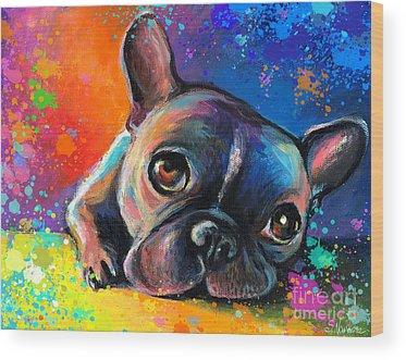 French Bulldog Wood Prints