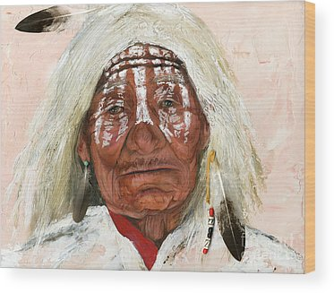 Native American Portrait Wood Prints