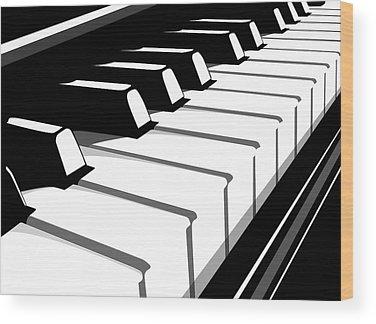 Piano Keys Wood Prints