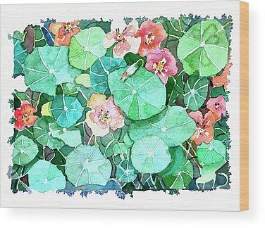 Nasturtium Wood Prints