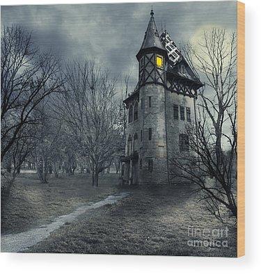 Haunted House Wood Prints