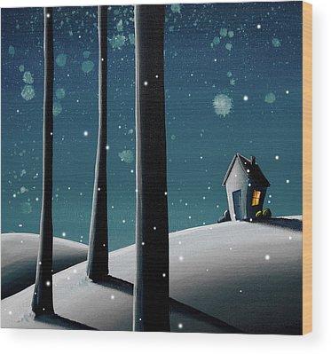 Cold Night Wood Prints