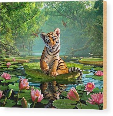 Egret Wood Prints