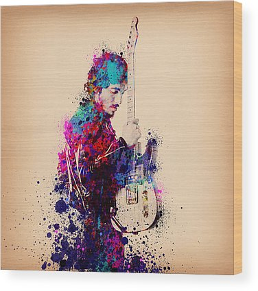 Music Rock N Roll The Boss Wood Prints