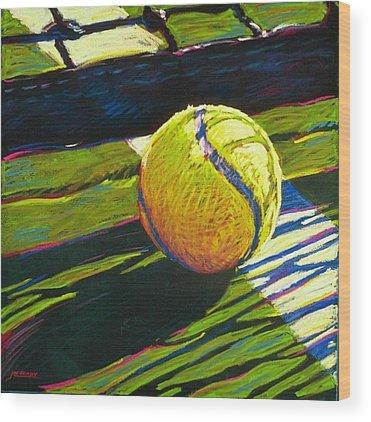 Tennis Ball Wood Prints