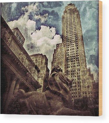 Newyork Wood Prints