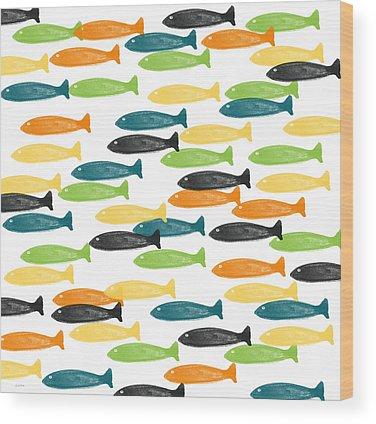 Fish Pond Wood Prints