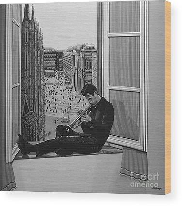 Jazz Singer Wood Prints