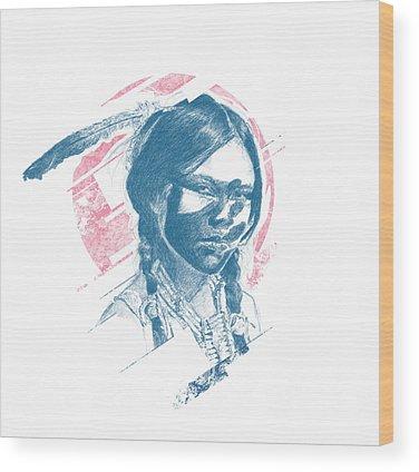 Indian Princess Wood Prints