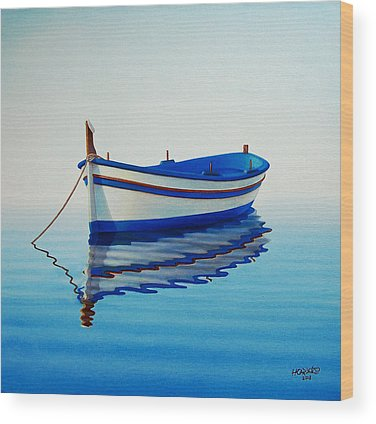 Row Boat Wood Prints