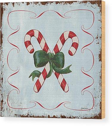 Candy Cane Wood Prints