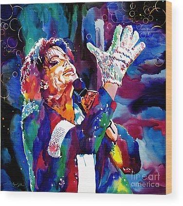 Michael Jackson King Of Pop Wood Prints