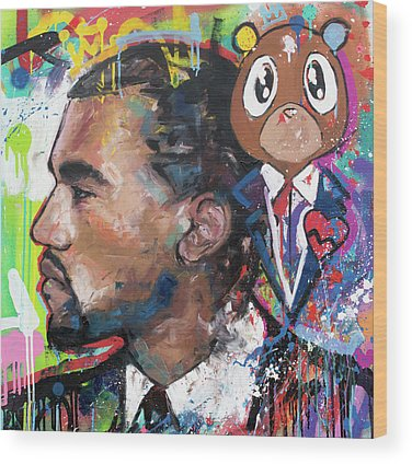 Rapper Kanye West Wood Prints