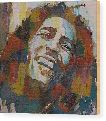 Bob Marley Wood Prints