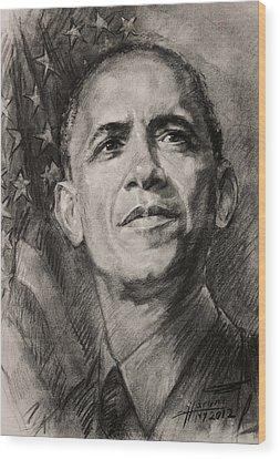 Barack Obama Wood Prints