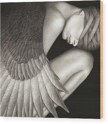 Black Woman Wood Prints